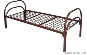 Кровати железные одноярусные для санаториев, кровати металлические по низко цене - Изображение #2, Объявление #1442450