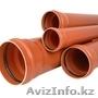 Труба и фитинги ПВХ для наружной канализации Ду 110 160 200 250 315 400 500
